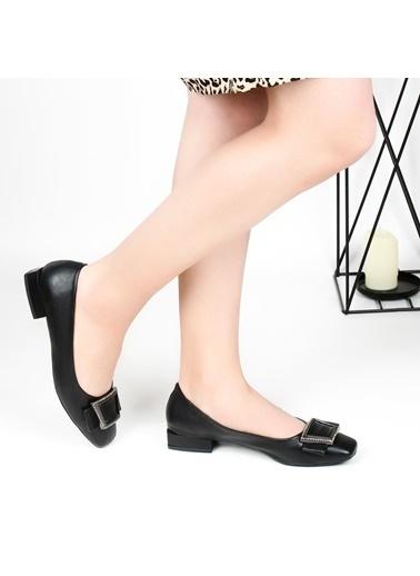 Pandora Dm3012 Ortapedik Siyah Bayan Günlük Babet Ayakkabı Siyah